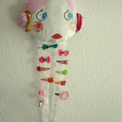Vintage Doll Face Hair Clip Holder