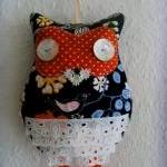 Owl hair clips holder