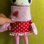 Winter doll in polka dots